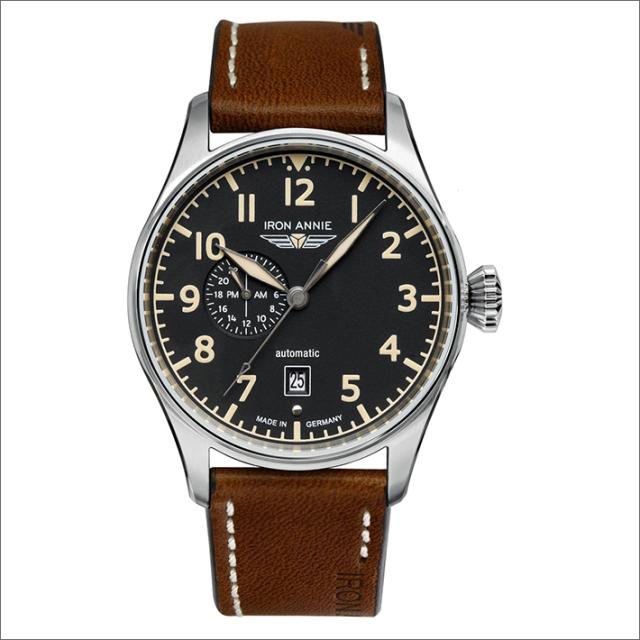 アイアンアニー IRON ANNIE 腕時計 5168-2AT フライトコントロール 自動巻 曜日表示 メンズ レザーベルト