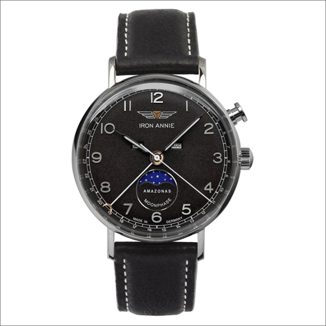 アイアンアニー IRON ANNIE 腕時計 5976-2QZ アマゾナス クォーツ ムーンフェイズ メンズ レザーベルト