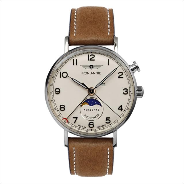 アイアンアニー IRON ANNIE 腕時計 5976-5QZ アマゾナス クォーツ ムーンフェイズ メンズ レザーベルト