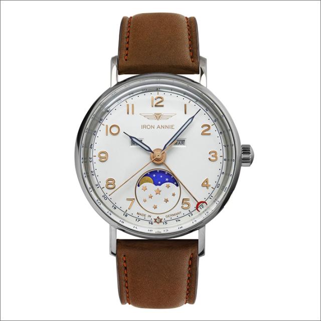 アイアンアニー IRON ANNIE 腕時計 5977-1QZ アマゾナス クォーツ ムーンフェイズ レディース レザーベルト