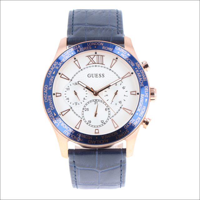 ゲス GUESS 腕時計 W1262G4 クォーツ レザーベルト