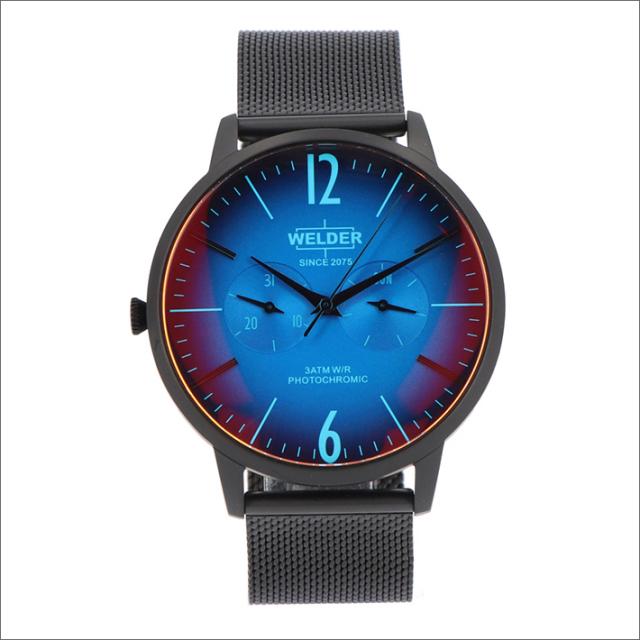 ウェルダー WELDER 腕時計 WWRS401 クォーツ 42mm メッシュメタルベルト 日付・曜日表示