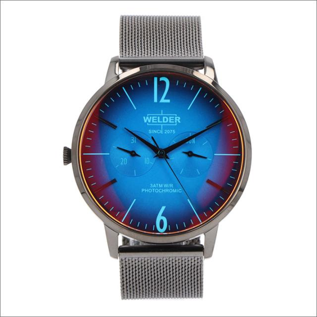ウェルダー WELDER 腕時計 WWRS417 クォーツ 42mm メッシュメタルベルト 日付・曜日表示