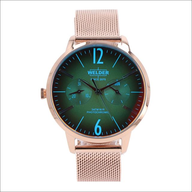 ウェルダー WELDER 腕時計 WWRS605 クォーツ 36mm メッシュメタルベルト 日付・曜日表示