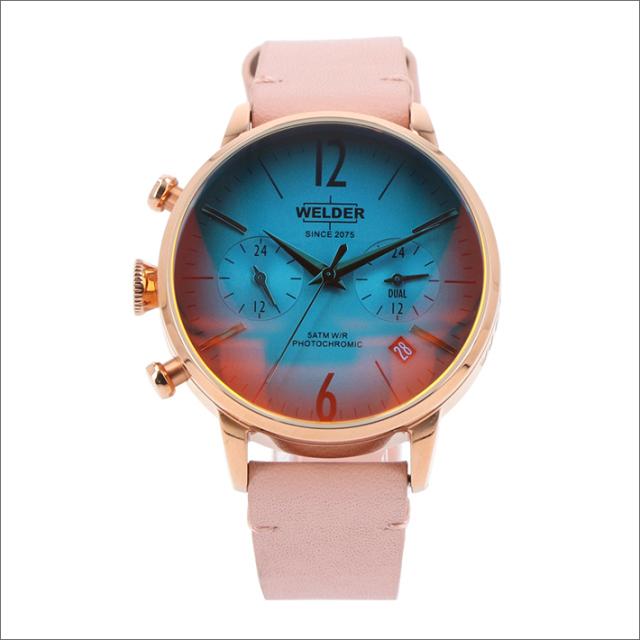 ウェルダー WELDER 腕時計 WWRC100 クォーツ 38mm レザーベルト 日付・デュアルタイム表示