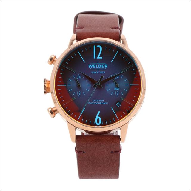 ウェルダー WELDER 腕時計 WWRC103 クォーツ 38mm レザーベルト 日付・デュアルタイム表示