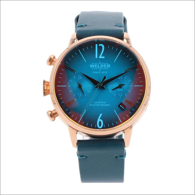 ウェルダー WELDER 腕時計 WWRC105 クォーツ 38mm レザーベルト 日付・デュアルタイム表示