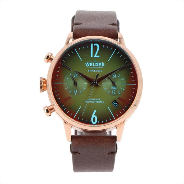 ウェルダー WELDER 腕時計 WWRC111 クォーツ 38mm レザーベルト 日付・デュアルタイム表示