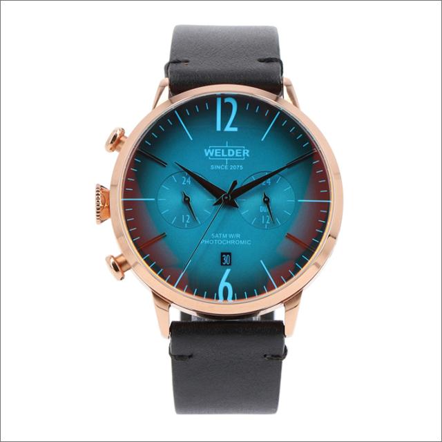 ウェルダー WELDER 腕時計 WWRC306 クォーツ 45mm レザーベルト 日付・デュアルタイム表示