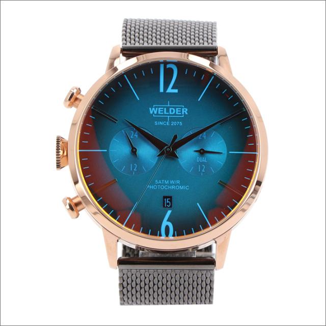 ウェルダー WELDER 腕時計 WWRC405 クォーツ 45mm メッシュメタルベルト 日付・デュアルタイム表示