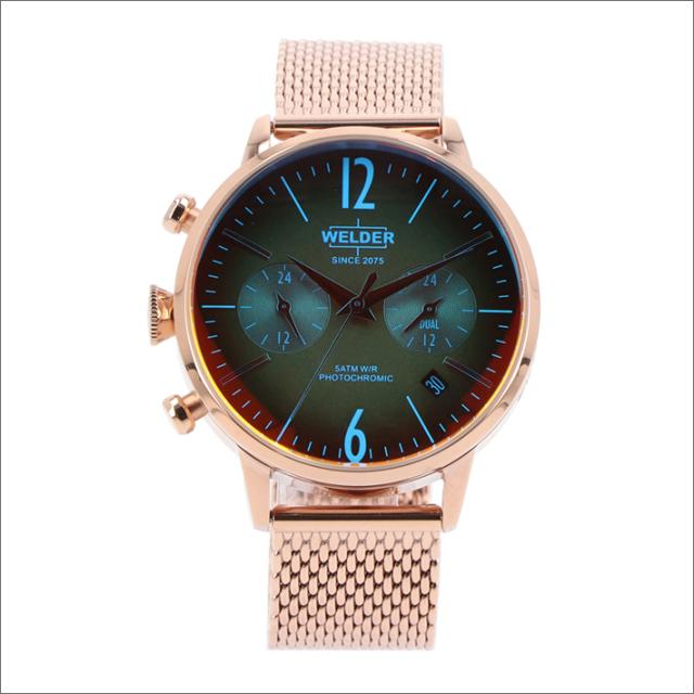 ウェルダー WELDER 腕時計 WWRC605 クォーツ 38mm メッシュメタルベルト 日付・デュアルタイム表示