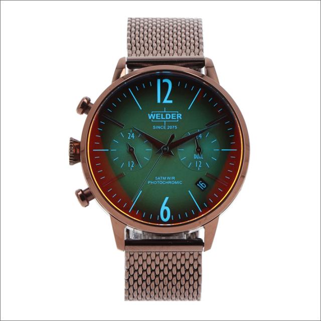 ウェルダー WELDER 腕時計 WWRC606 クォーツ 38mm メッシュメタルベルト 日付・デュアルタイム表示