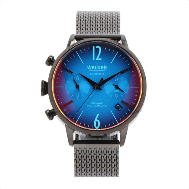 ウェルダー WELDER 腕時計 WWRC611 クォーツ 38mm メッシュメタルベルト 日付・デュアルタイム表示
