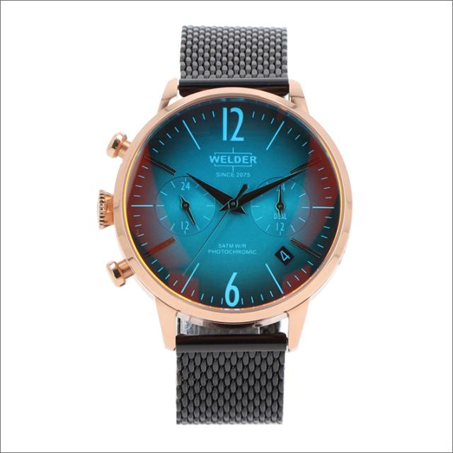 ウェルダー WELDER 腕時計 WWRC636 クォーツ 38mm メッシュメタルベルト 日付・デュアルタイム表示