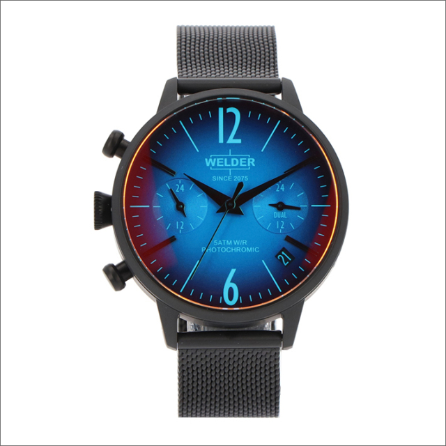 ウェルダー WELDER 腕時計 WWRC710 クォーツ 36mm メッシュメタルベルト 日付・デュアルタイム表示