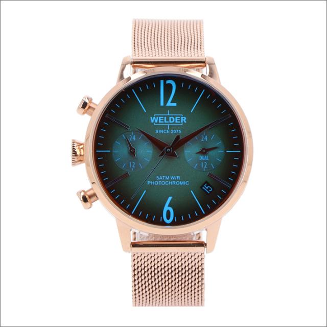 ウェルダー WELDER 腕時計 WWRC715 クォーツ 36mm メッシュメタルベルト 日付・デュアルタイム表示