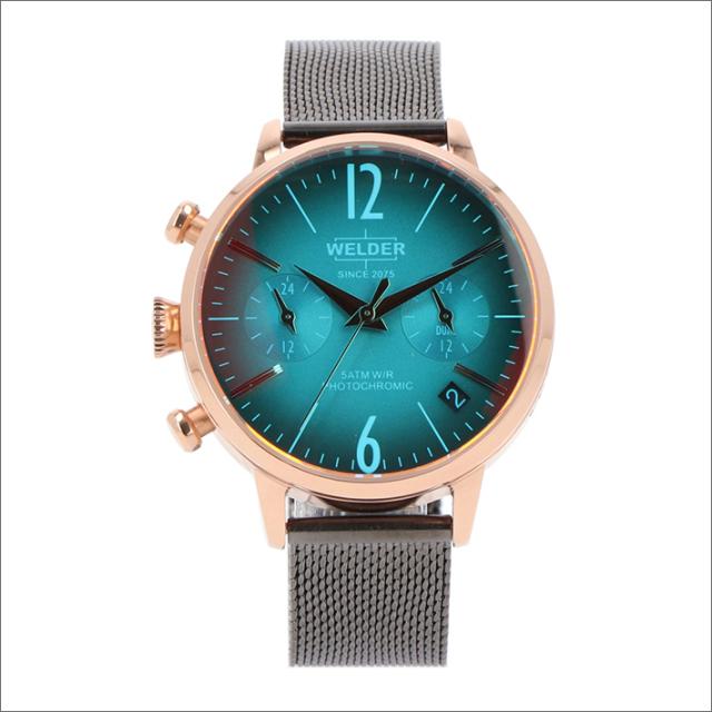 ウェルダー WELDER 腕時計 WWRC716 クォーツ 36mm メッシュメタルベルト 日付・デュアルタイム表示
