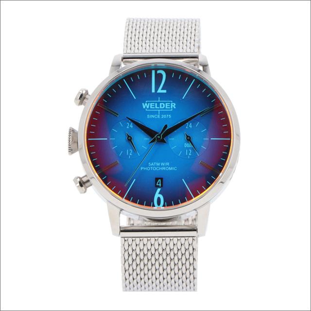 ウェルダー WELDER 腕時計 WWRC800 クォーツ 42mm メッシュメタルベルト 日付・デュアルタイム表示