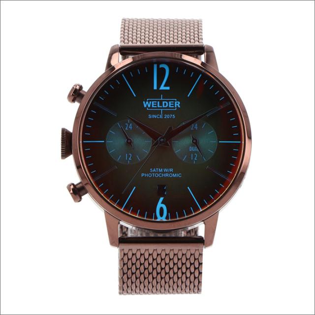 ウェルダー WELDER 腕時計 WWRC804 クォーツ 42mm メッシュメタルベルト 日付・デュアルタイム表示