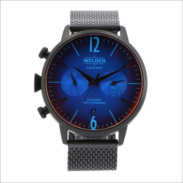 ウェルダー WELDER 腕時計 WWRC809 クォーツ 42mm メッシュメタルベルト 日付・デュアルタイム表示