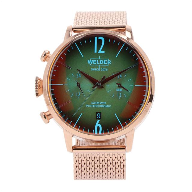 ウェルダー WELDER 腕時計 WWRC813 クォーツ 42mm メッシュメタルベルト 日付・デュアルタイム表示