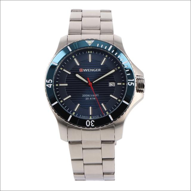 ウェンガー WENGER 腕時計 01.0641.120 シーフォース メタルベルト メンズ