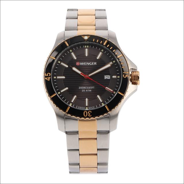 ウェンガー WENGER 腕時計 01.0641.127 シーフォース メタルベルト メンズ