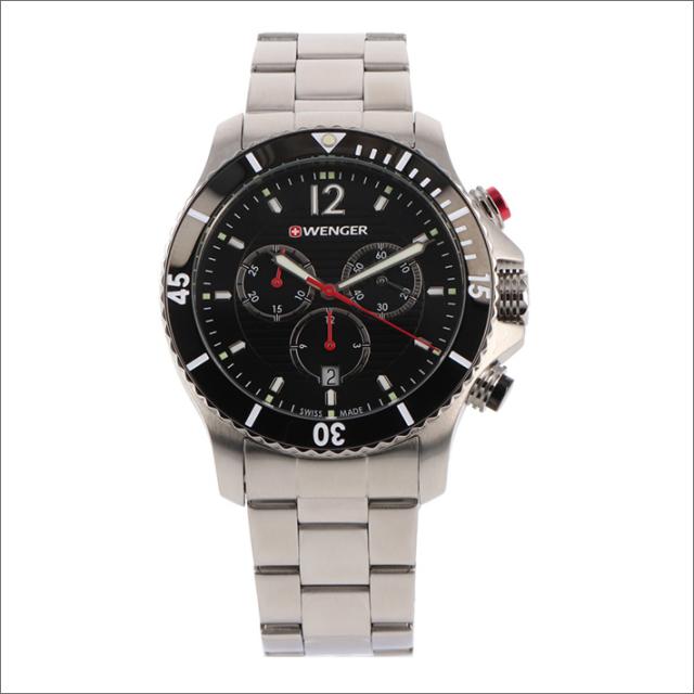 ウェンガー WENGER 腕時計 01.0643.109 シーフォース メタルベルト メンズ