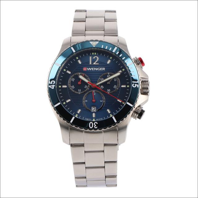 ウェンガー WENGER 腕時計 01.0643.111 シーフォース メタルベルト メンズ