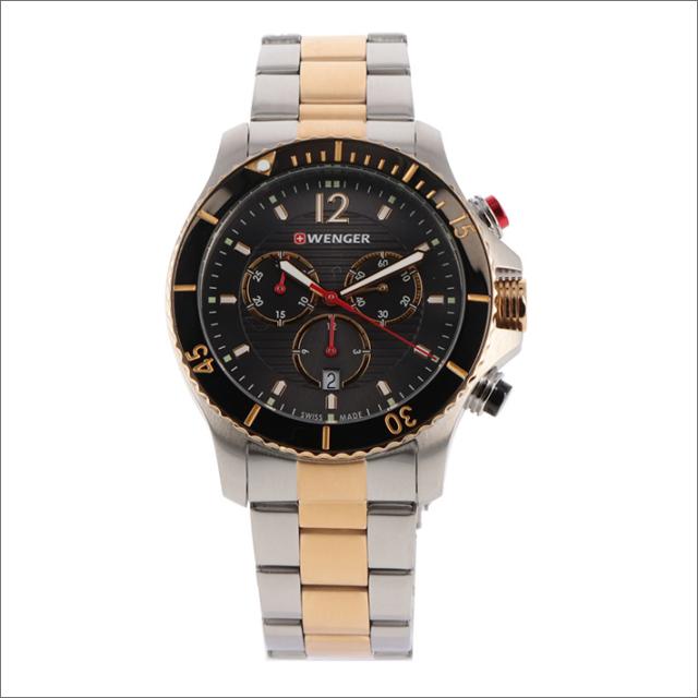 ウェンガー WENGER 腕時計 01.0643.113 シーフォース メタルベルト メンズ
