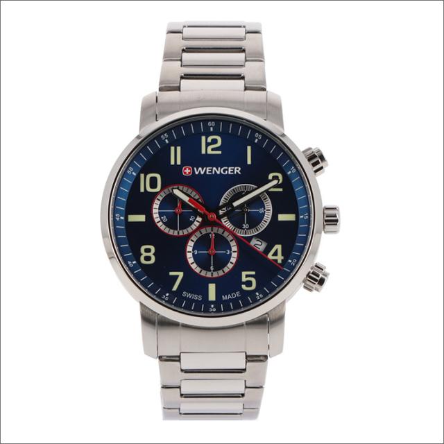 ウェンガー WENGER 腕時計 01.1543.101 アティテュード クロノグラフ メタルベルト メンズ
