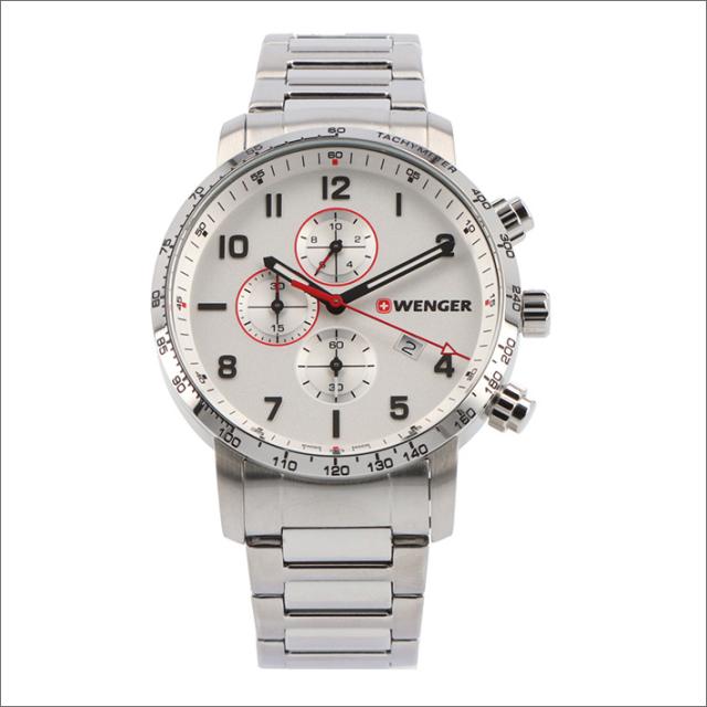 ウェンガー WENGER 腕時計 01.1543.110 アティテュード クロノグラフ メタルベルト メンズ