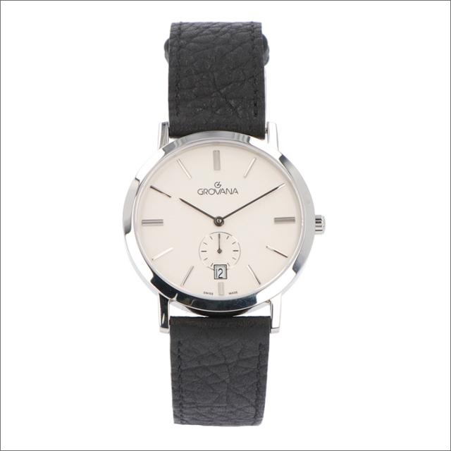 グロバナ GROVANA 腕時計 1050.1532 37mm クォーツ カレンダー スモールセコンド レザーベルト
