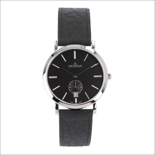 グロバナ GROVANA 腕時計 1050.1537 37mm クォーツ カレンダー スモールセコンド レザーベルト