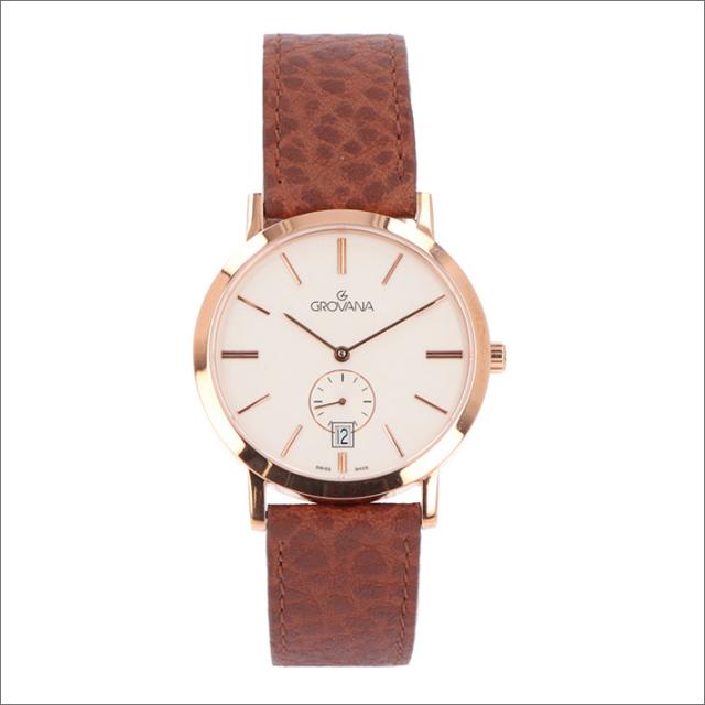 グロバナ GROVANA 腕時計 1050.1562 37mm クォーツ カレンダー スモールセコンド レザーベルト