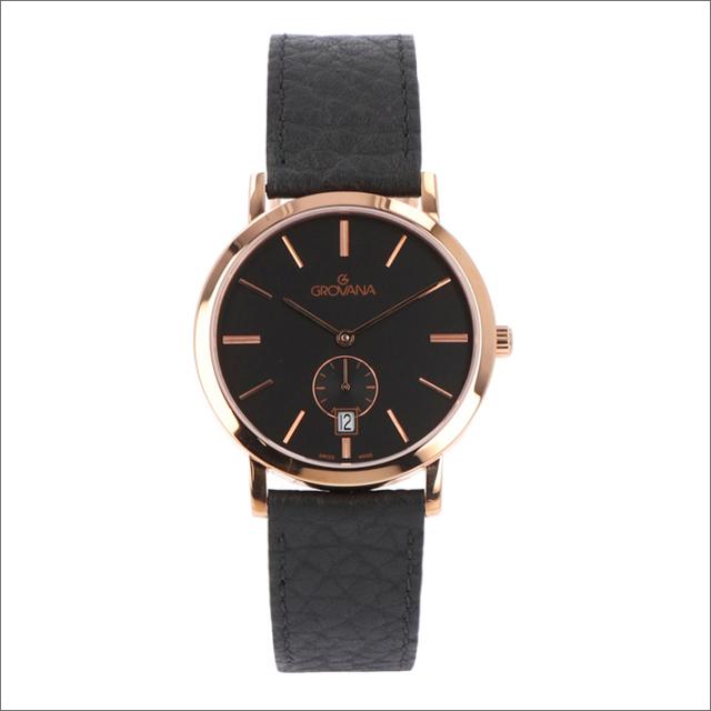 グロバナ GROVANA 腕時計 1050.1567 37mm クォーツ カレンダー スモールセコンド レザーベルト