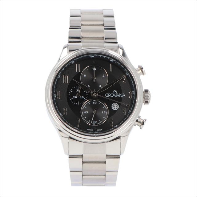 グロバナ GROVANA 腕時計 1192.9137 42mm クォーツ カレンダー クロノグラフ メタルベルト