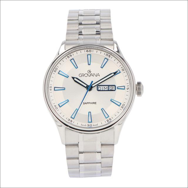 グロバナ GROVANA 腕時計 1194.1132 42mm クォーツ カレンダー メタルベルト