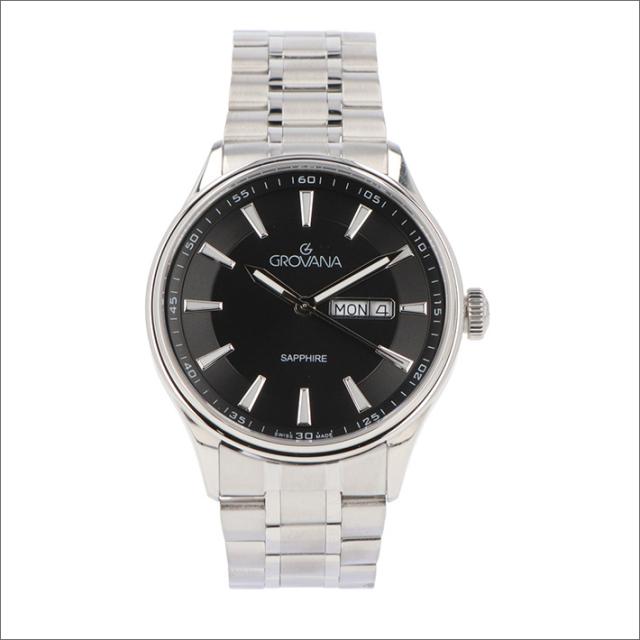 グロバナ GROVANA 腕時計 1194.1137 42mm クォーツ カレンダー メタルベルト
