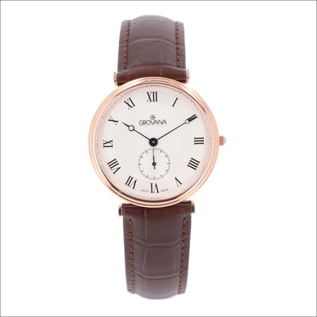 グロバナ GROVANA 腕時計 1276.5568 38mm クォーツ スモールセコンド レザーベルト