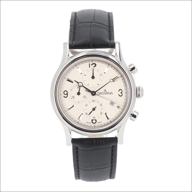 グロバナ GROVANA 腕時計 1728.9532 41mm クォーツ カレンダー クロノグラフ レザーベルト