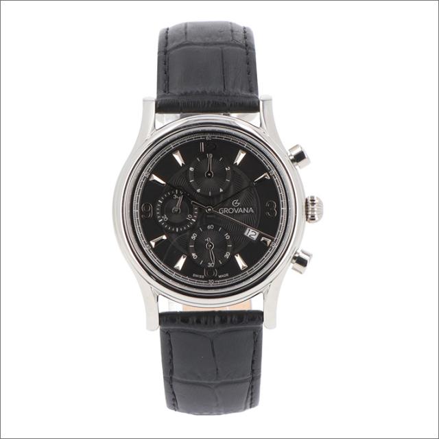 グロバナ GROVANA 腕時計 1728.9537 41mm クォーツ カレンダー クロノグラフ レザーベルト