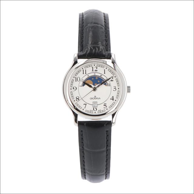 グロバナ GROVANA 腕時計 3026.1533 31mm クォーツ カレンダー ムーンフェイズ レザーベルト