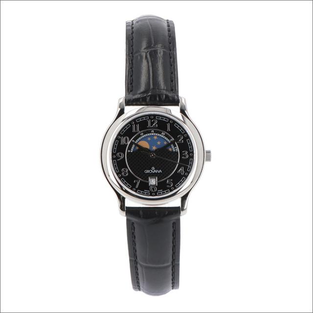 グロバナ GROVANA 腕時計 3026.1537 31mm クォーツ カレンダー ムーンフェイズ レザーベルト