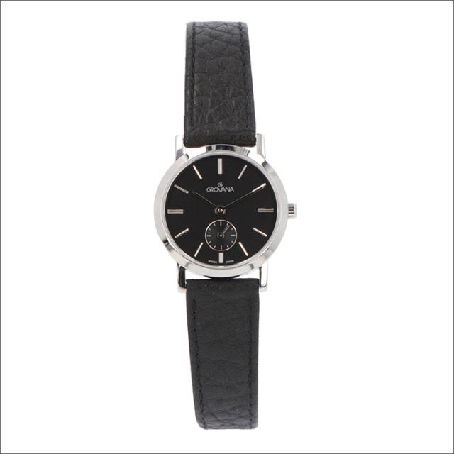 グロバナ GROVANA 腕時計 3050.1537 26mm クォーツ スモールセコンド レザーベルト