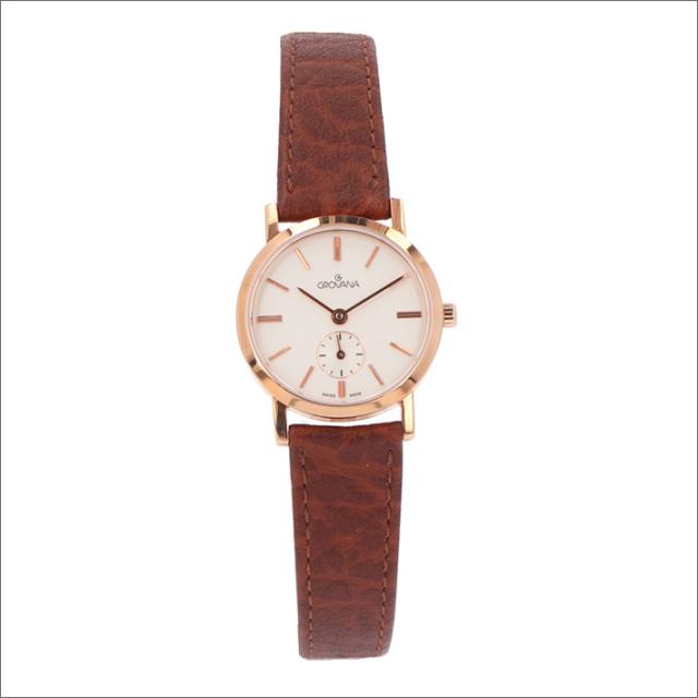 グロバナ GROVANA 腕時計 3050.1562 26mm クォーツ スモールセコンド レザーベルト