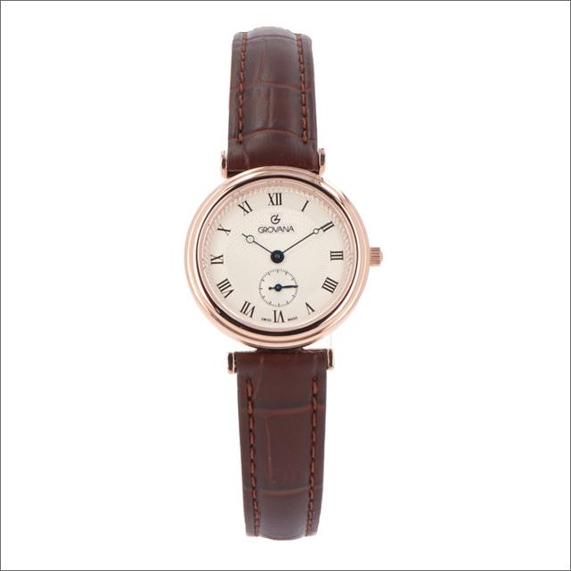 グロバナ GROVANA 腕時計 3276.1568 29mm クォーツ スモールセコンド レザーベルト