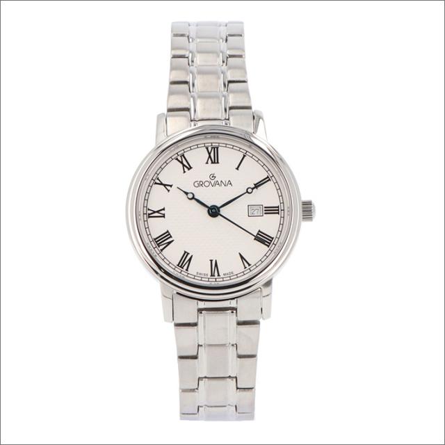 グロバナ GROVANA 腕時計 5550.1138 32mm クォーツ カレンダー メタルベルト