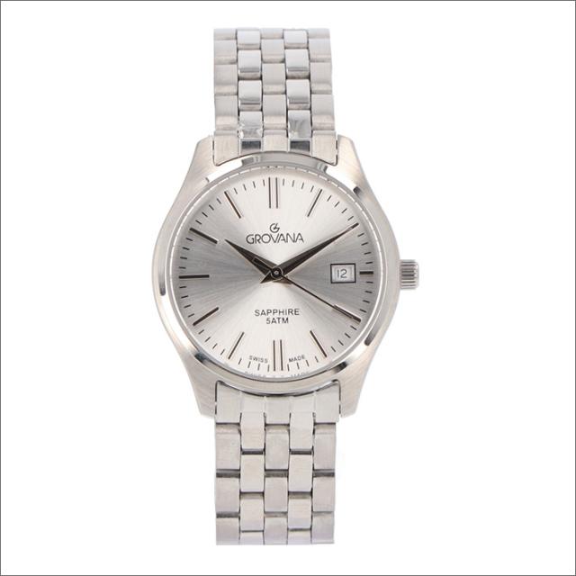 グロバナ GROVANA 腕時計 5568.1132 28mm クォーツ カレンダー メタルベルト