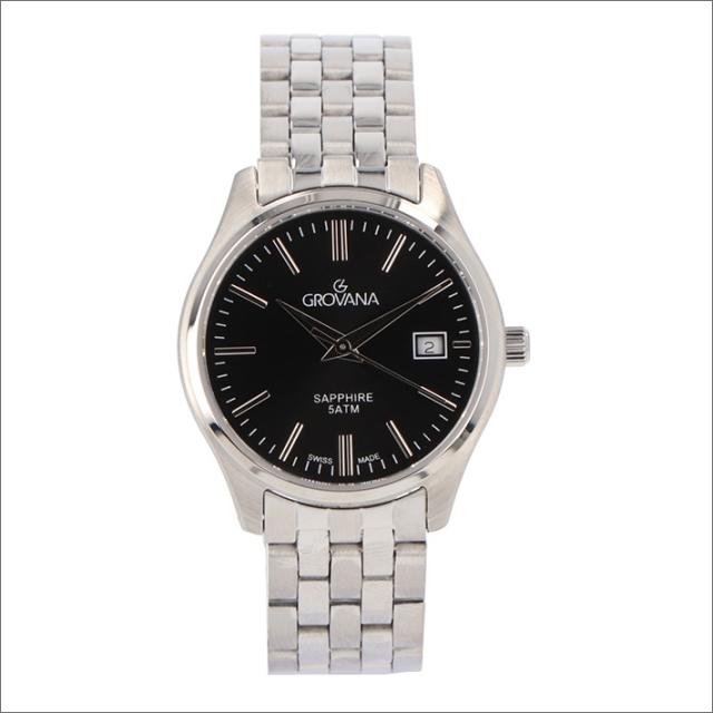 グロバナ GROVANA 腕時計 5568.1137 28mm クォーツ カレンダー メタルベルト